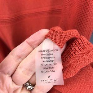 Peruvian Connection Dresses - PERUVIAN CONNECTION Burnt Orange Knit Dress Size M